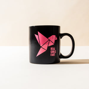Real Girls F.A.R.T. Black Coffee Mug