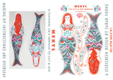 Meryl The Mermaid Tea Towel / Cloth Kit - A silkscreen design by Sarah Young