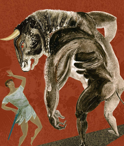 Minotaur - Print of an illustration by Sarah Young