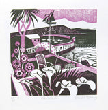 Mousehole - Relief / Letterpress Print