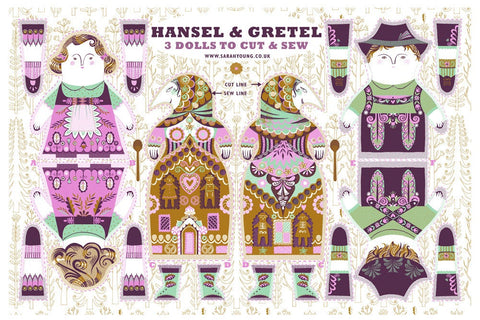 Hansel and Gretel / Cloth Kit - A silkscreen design by Sarah Young