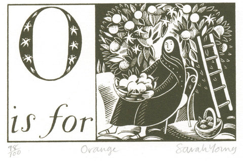 O is for Orange - Alphabet Silkscreen Print