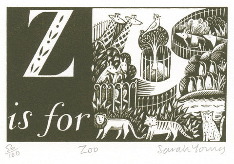 Z is for Zoo - Alphabet Silkscreen Print