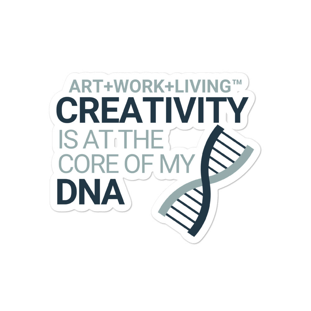 Creativity in my DNA Sticker