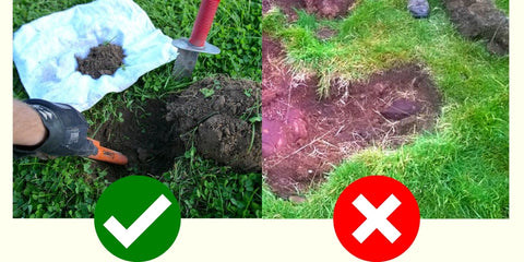 how to dig a metal detecting plug