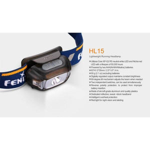 Fenix HL15 – 200 Lumens LED Headlamp – Blue