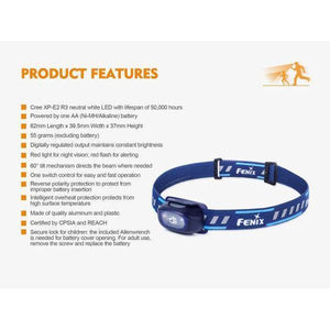 fenix hl16 led headlamp features