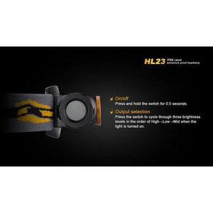 fenix hl23 led headlamp switch