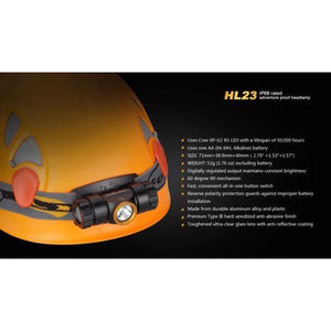 fenix hl23 led headlamp work