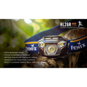 fenix hl26r led headlamp front
