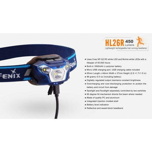 fenix hl26r led headlamp charging