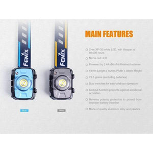 Fenix hl30 led headlamp features