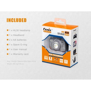Fenix hl30 led headlamp box