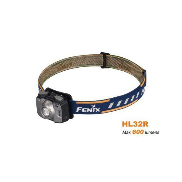 Fenix HL32R – 600 Lumens Rechargeable LED Headlamp – Grey