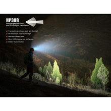 Fenix HP30R – 1750 Lumens Rechargeable LED Headlamp – Iron grey