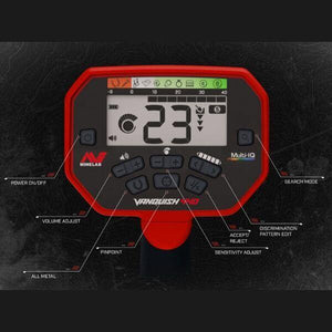 Minelab Vanquish 440 control panel close up