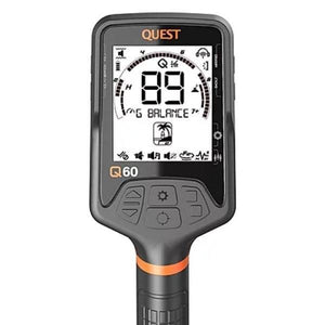 Quest Q60 Waterproof Metal Detector display