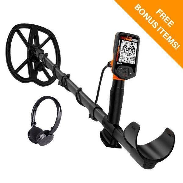Quest q40 metal detector for coin and relic hunting and detecting