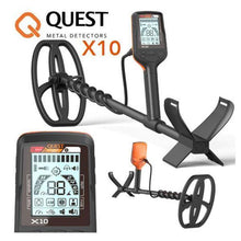 Quest x10 metal detector for coin and relic hunting and detecting