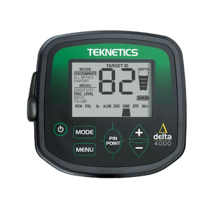 Teknetics delta 4000 metal detector display