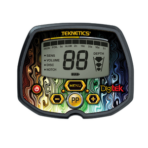 Teknetics Digitek metal detector display