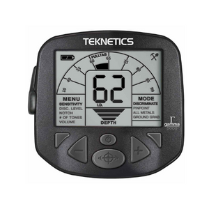 Close up of Teknetics Gamma 6000 Metal Detector display