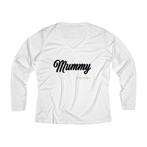 Mummy Long Sleeve Performance V-neck Tee