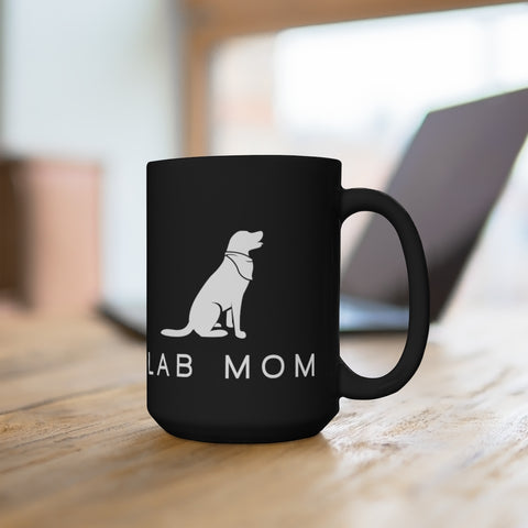 Lab Mom Mug (black) 15oz