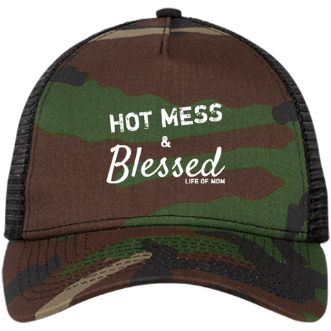 Hot Mess & Blessed Trucker Cap