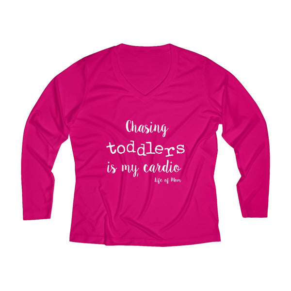 Chasing Toddlers is my Cardio Long Sleeve Performance V-neck Tee