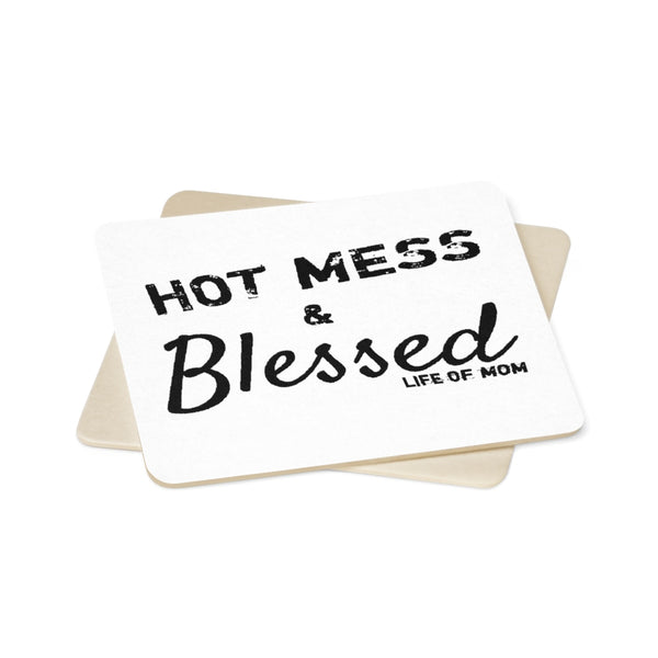 Hot Mess & Blessed Paper Coaster Set (6pcs)