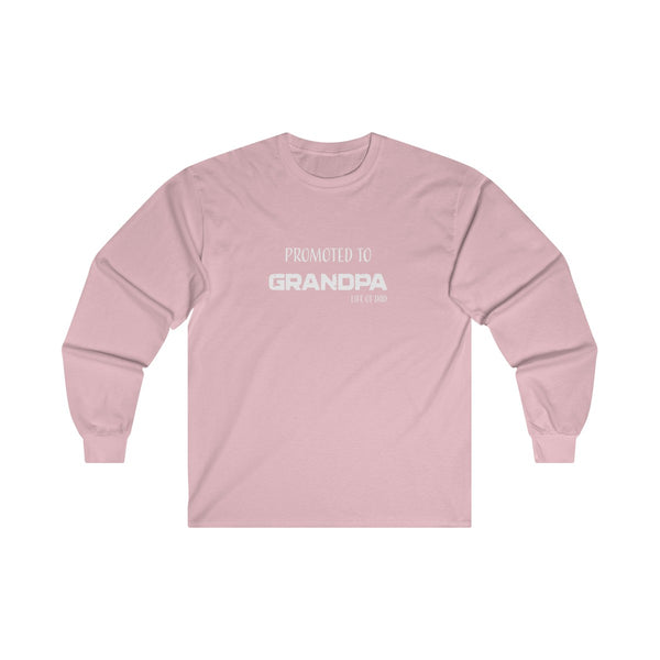 Promoted to Grandpa Long Sleeve Tee