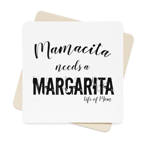 Mamacita needs a Margarita Square Paper Coaster Set (6pcs)