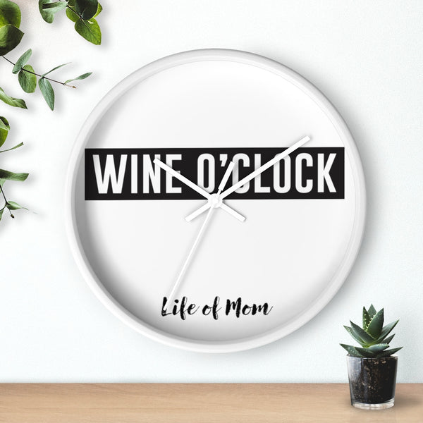 Wine O'clock Wednesday Wall clock