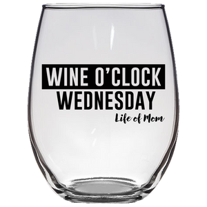Wine O'clock Wine Glass
