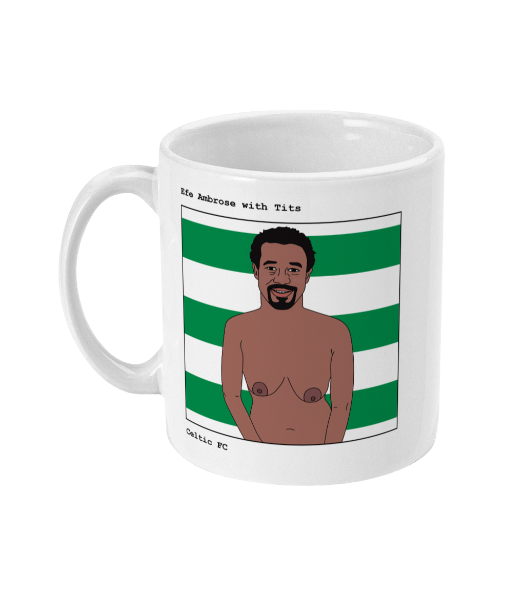 Efe Ambrose with Tits - Footballers with Tits