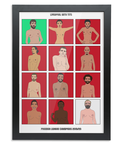 Liverpool Title Winners with Tits - Footballers with Tits