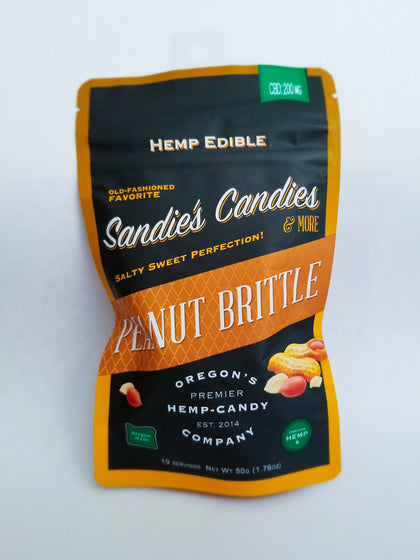 Sandie's Candies Hemp Peanut Brittle (5 per Case)