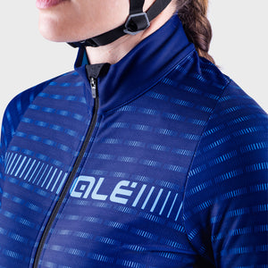 PRR Green Road Women's Long Sleeve Jersey - Blue