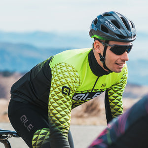 PR-S Hexa DWR Men's Long Sleeve Jersey - Fluro Yellow