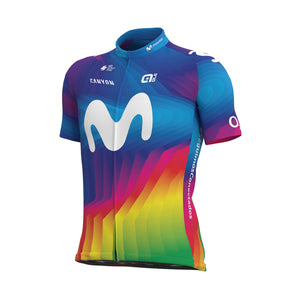 Solid Movistar Strade Bianche Men's Jersey