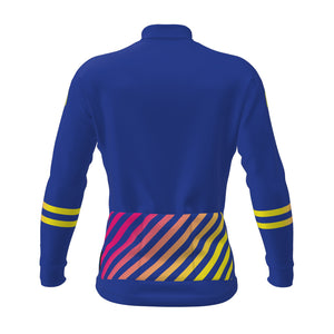 Solid Cross Long Sleeve Women's Jersey - Electric Blue