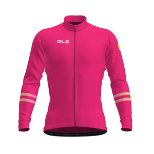 Solid Cross Long Sleeve Women's Jersey - Pink