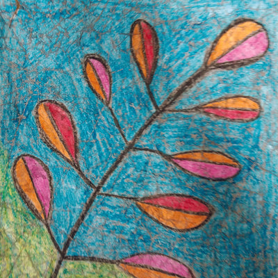 Crayon Wax Batik Fall Leaves Art Lesson