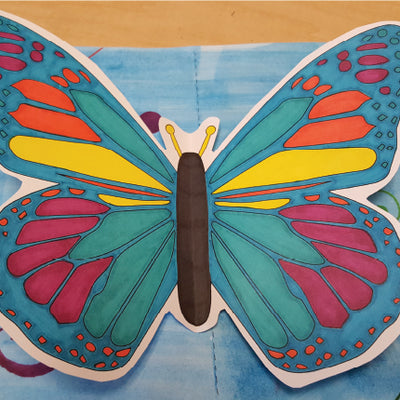 Pop-Up Butterfly Activity