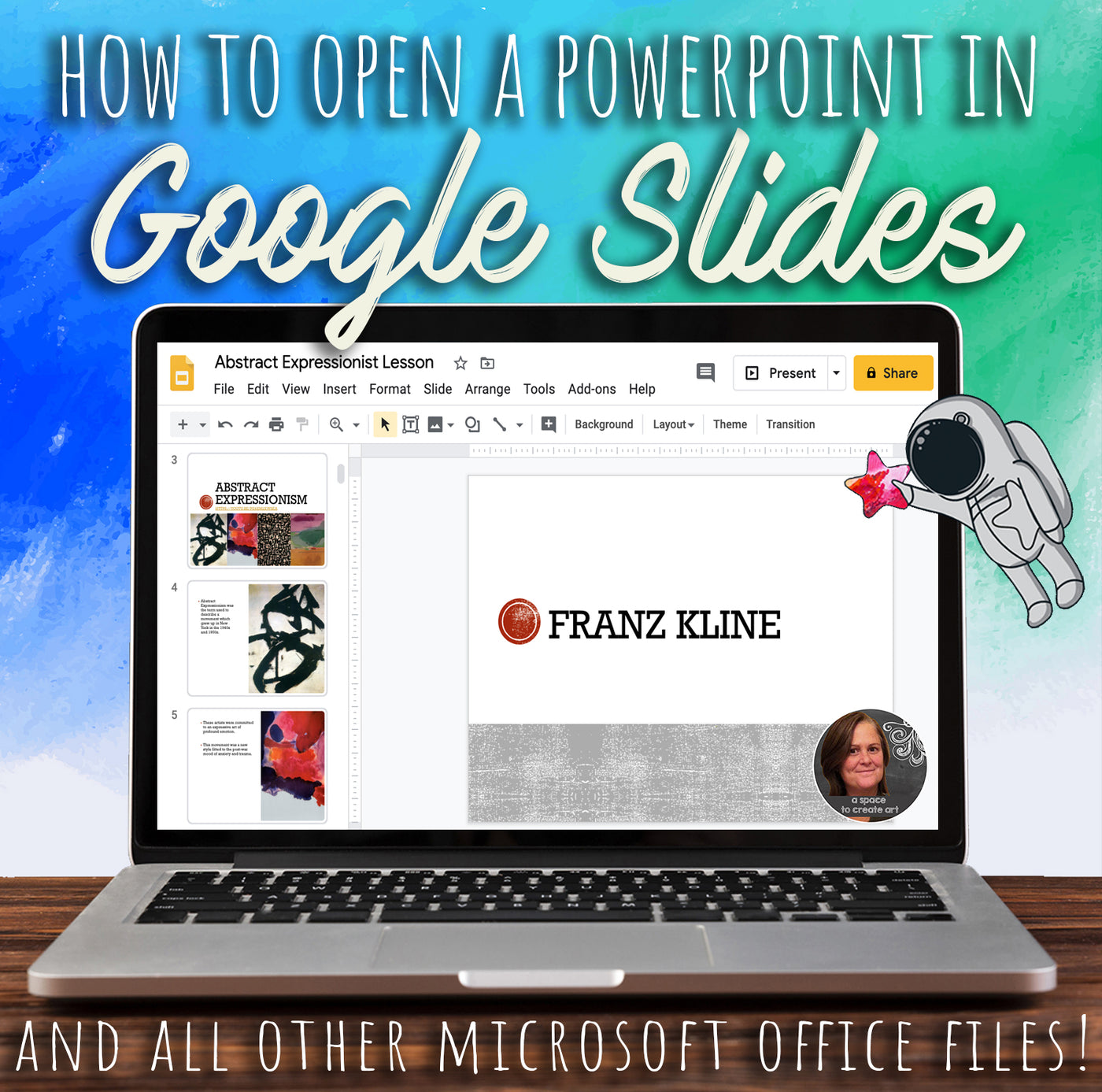How to open a PowerPoint on Google Slides