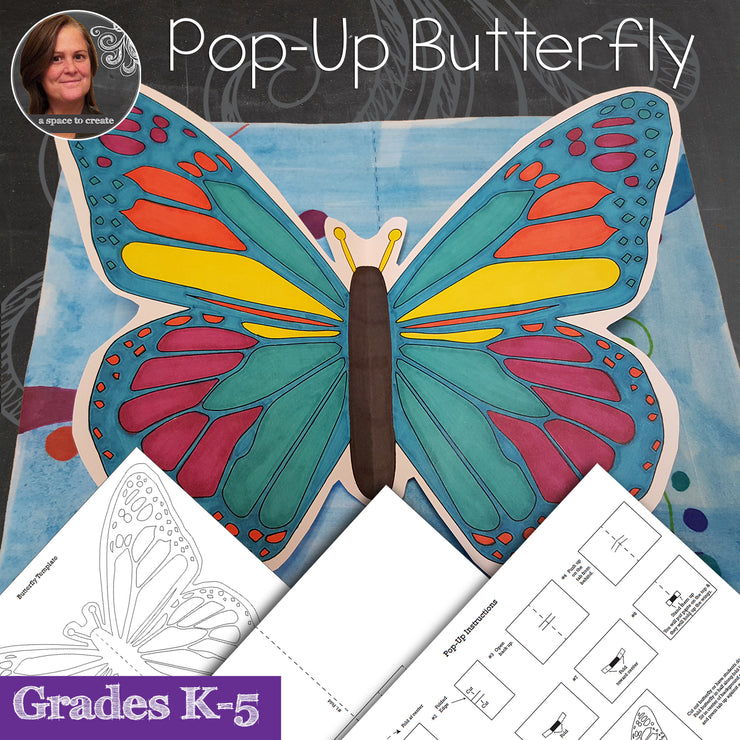 Butterfly Pop-Up Art Activity - with Video