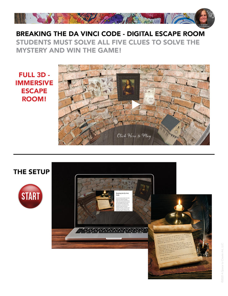 Breaking the Da Vinci Code - Digital Escape Room