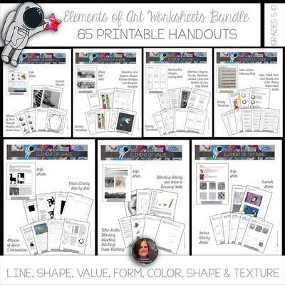 Elements of Art Worksheets & Mini-Lessons Bundle