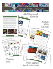 Franz Marc Art History Workbook - Biography, Activities, Analysis and Project